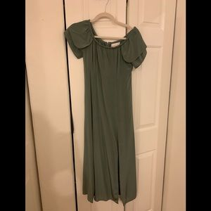 Sage green silk SCF dress